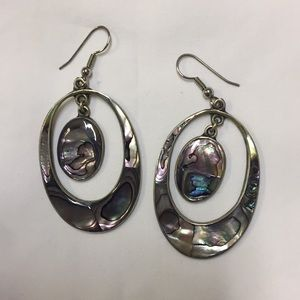 Jewelry - Antique abalone shell earrings